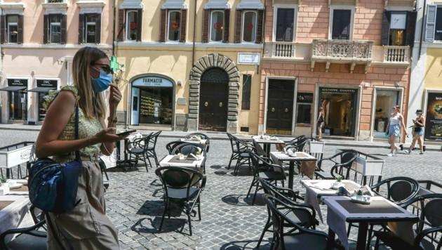 Italien ist vom Höhepunkt der Krise immer noch schwer gezeichnet. (Bild: AP Photo/Riccardo De Luca)