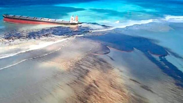Öl-Katastrophe vor Mauritius (Bild: AP)
