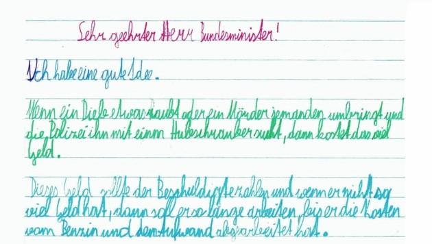 Diesen Brief schrieb Paul aus Villach.