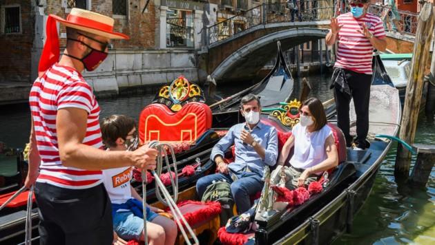 Italien ist immer noch im Ausnahmezustand - durch die Pandemie sind auch die Reisebuchungen von Touristen eklatant zurückgegangen. (Bild: AFP)
