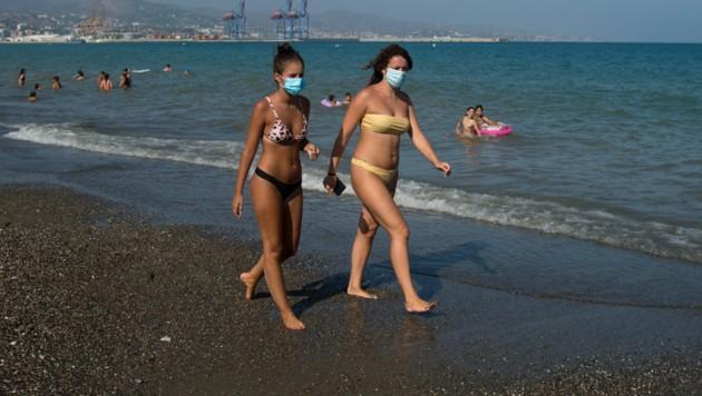 Auch in Malaga gilt: Sommer, Sonne, Strand und Maske