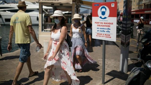 Maskenpflicht in Saint-Tropez