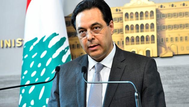 Der libanesische Regierungschef Hassan Diab (Bild: AFP)