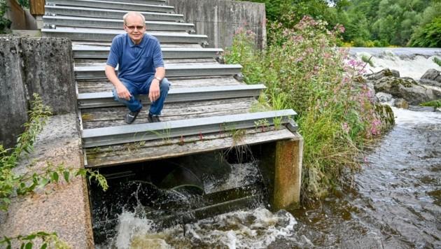 Kurt Priesner ist der Betreiber des Kleinkraftwerks Griesmühle an der Großen Rodl (Bild: Dostal Harald)