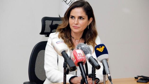 Informationsministerin Manal Abdel Samad (Bild: AFP)