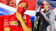 Sebastian Vettel (li.) und Gerhard Berger (Bild: AFP, GEPA)