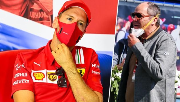 Sebastian Vettel (li.) und Gerhard Berger