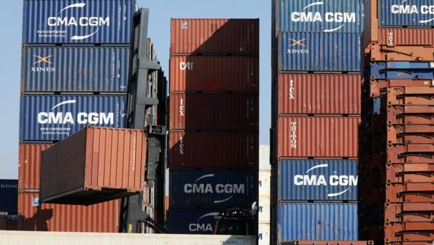Container im Hamburger Hafen (Bild: AFP)