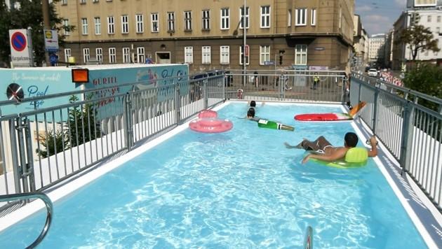 Das umstrittene Schwimmbecken am Wiener Gürtel (Bild: Gerhard Bartel)