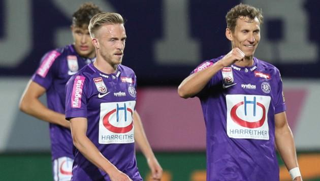 James Jeggo und Florian Klein sind wohl bald keine Teamkollegen mehr … (Bild: GEPA)