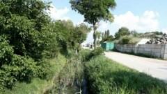 Bei diesem Wasserzulauf nahe dem Bauhof lag der Tote (21). (Bild: Reinhard Judt)