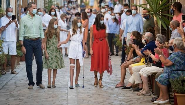 Die spanische Königsfamilie besucht Petra auf Mallorca. (Bild: AFP or licensors)