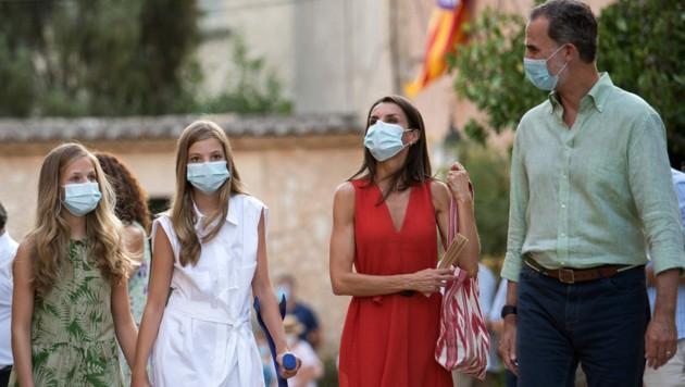 Die spanische Königsfamilie verbringt ihren Sommerurlaub traditionell auf Mallorca. (Bild: AFP or licensors)