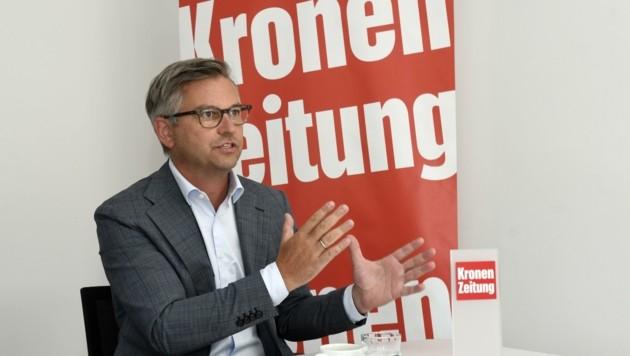 """""""Tirol hat bereits einige Vorarbeiten geleistet, ist auf einem guten Weg"""", sagt Brunner zum Thema Wasserstoff in Tirol. (Bild: Andreas Fischer)"""
