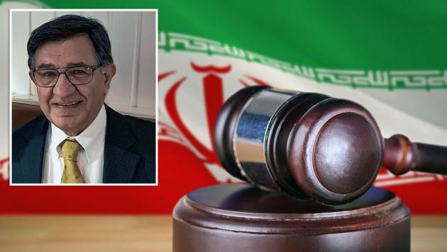 Massud Mossaheb (73) wurde während einer Wirtschaftsreise in den Iran von den dortigen Behörden verhaftet. (Bild: stock.adobe.com, zVg, krone.at-Grafik)