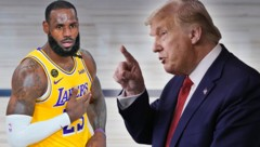 NBA- Superstar LeBron James und US-Präsident Donald Trump. (Bild: AP, krone.at-grafik)