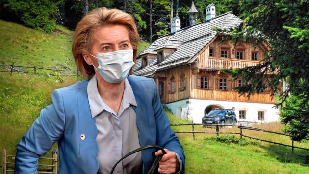 Ursula von der Leyen soll zehn Tage in der noblen Almhütte bleiben.
