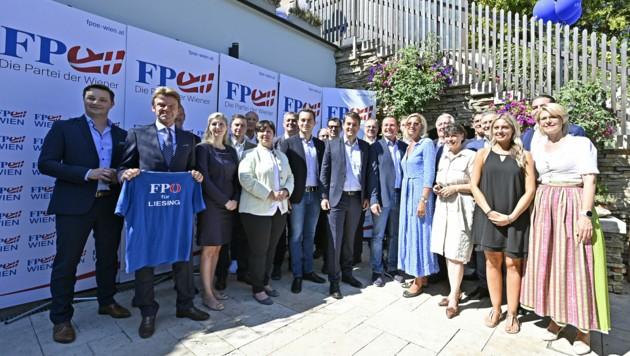 Die Kandidiaten der FPÖ für die Wien-Wahl (Bild: APA/HANS PUNZ)