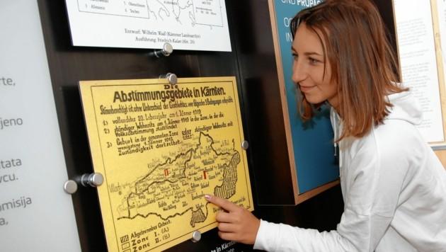 Landkarten,Grafiken, Zahlen, Daten, Fakten und vieles mehr erinnern an die vergangenen 100 Jahre in Kärnten