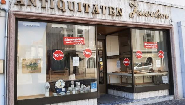 Das älteste Juweliergeschäft Klagenfurts sperrt zu. (Bild: Tragner Christian)