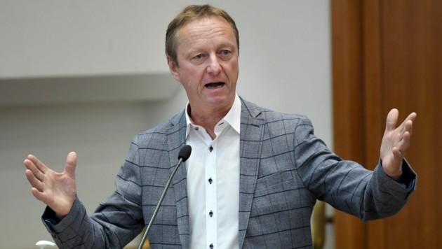 Große Pläne schmiedet FPÖ-Klubobmann Johann Tschürtz für 2022. (Bild: APA/ROLAND SCHLAGER)