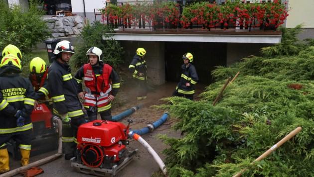 In Inzersdorf mussten Keller ausgepumpt werden (Bild: laumat.at/Matthias Lauber)