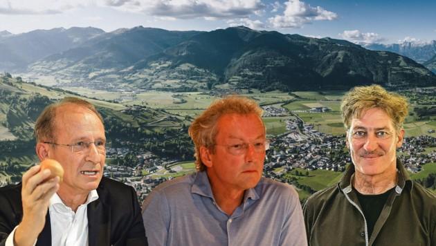 """Kurt Weinberger, Franz Welser-Möst und Tobias Moretti kämpfen in der Allianz """"Stoppt Bodenvernichtung"""" (Bild: EXPA/JFK, Markus Tschepp)"""