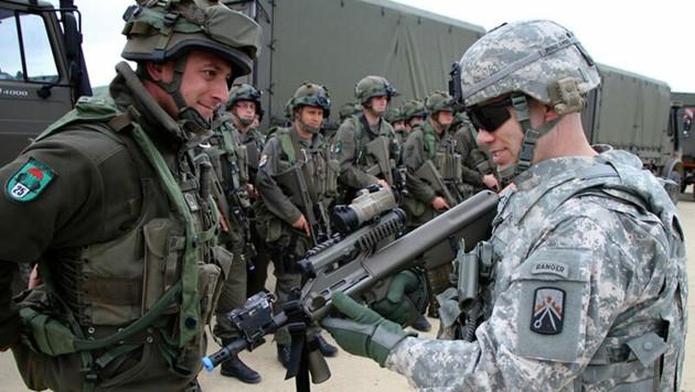 Immer wieder tauschen sich bereits jetzt Soldaten des Bundesheeres mit US-Einheiten aus. (Bild: US Army)