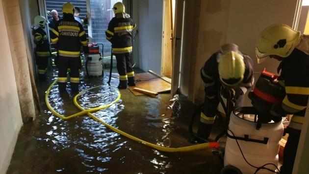 Überflutungen im Raum Fohnsdorf (Bild: APA/FF FOHNSDORF)