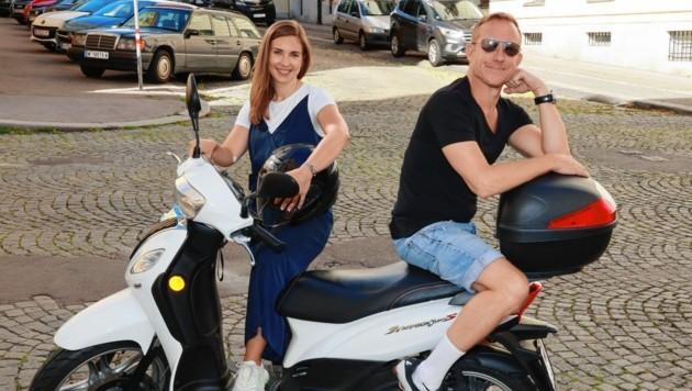 Mit Simone Stribl einmal quer durch die Wiener City ... (Bild: Zwefo)