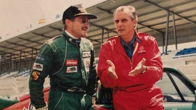 Der Motorsportfan drehte mit Gerhard Hirschmann (re.) 1996 die erste Runde am Österreichring.