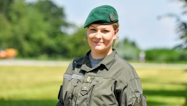 Ihre Dienstzeit hat sich die junge Soldatin anders vorgestellt