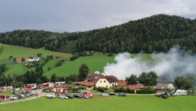 Acht Feuerwehren aus der Umgebung standen im Einsatz. (Bild: FF Diex)