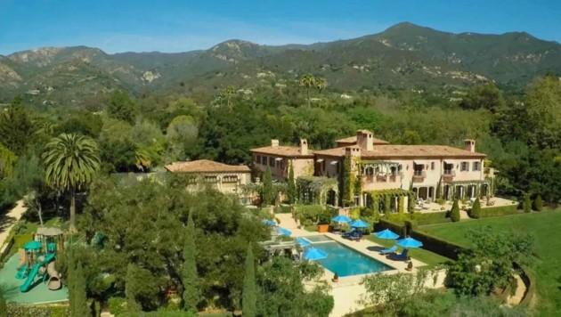 In diese Villa in Montecito sind Herzogin Meghan und Prinz Harry bereits im Juli eingezogen.