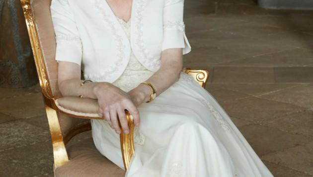 Prinzessin Anne sieht in einem Traum in Weiß fantastisch aus.