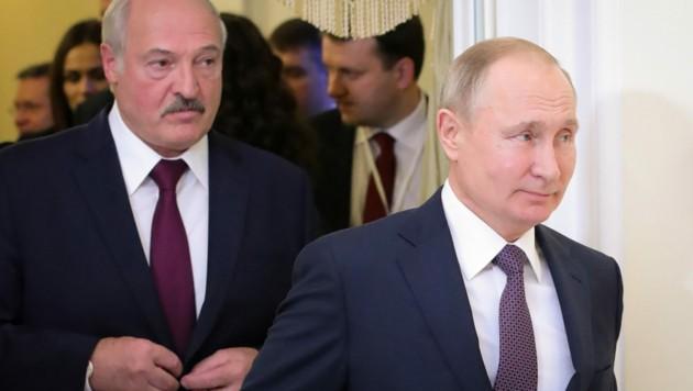 Alexander Lukaschenko und Wladimir Putin (Bild: AFP)