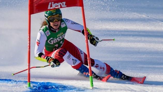 Mit dem dritten Rang beim Riesentorlauf in Lienz Ende Dezember 2019 übertraf Katharina Liensberger ihre eigenen Erwartungen
