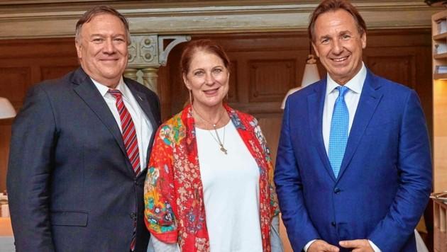 Die Wiener Küche hat es US-Außenminister Pompeo und Ehefrau Susan angetan. Sie waren bei Mario Plachutta zu Gast. (Bild: Starpix/ Alexander TUMA)