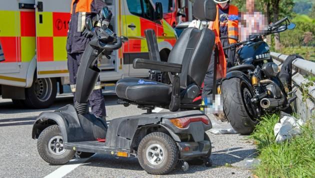 Schwerer Unfall im benachbarten Bayern (Bild: BRK)