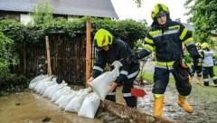 Feuerwehreinsatz nach einem Unwetter in Großlobming (Bild: Thomas Zeiler)