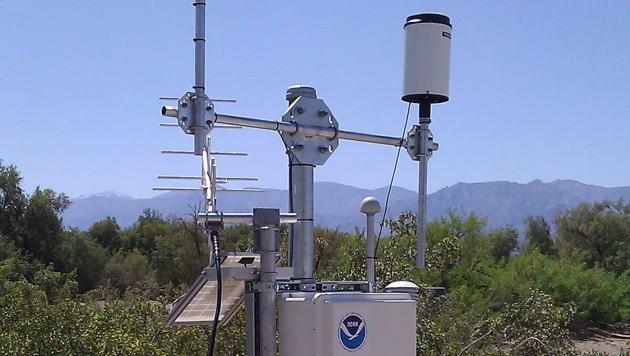An dieser NOAA-Messstelle im Death Valley National Park wurden am Sonntag die 54,4 Grad Celsius registriert. (Bild: US National Weather Service)