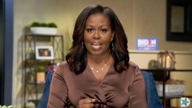 Die ehemalige First Lady Michelle Obama hielt eine emotionale Rede beim Online-Parteitag der US-Demokraten. (Bild: AFP)