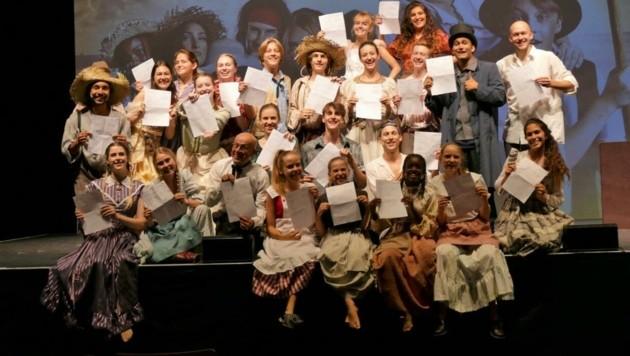 Das gesamte Team und alle Darsteller wurden auf Corona getestet: Alle sind negativ und zeigen erleichtert den Bescheid der Gesundheitsbehörde. (Bild: teatro)