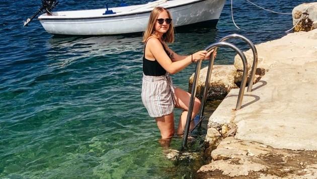 Celine Hochhold genießt ihren Urlaub vorerst weiter. (Bild: Scharinger Daniel)