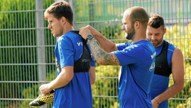 Vorbereitung auf das nächste Training bei Neo-Klub Hartberg: Manfred Gollner