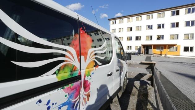 Die Schotten im Asylheim in der Innsbrucker Grassmayrstraße sind dicht. (Bild: Birbaumer Christof)