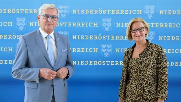 In der Testoffensive: Alfred Riedl und Johanna Mikl-Leitner