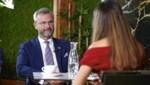Katia Wagner und Norbert Hofer haben sich in der Cavallo Lounge in Wien zum Gespräch getroffen. (Bild: Reinhard Holl)