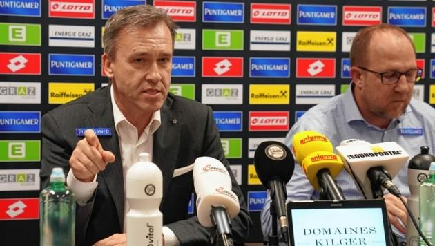 Sturm-Boss Christian Jauk mit Günter Kreissl. (Bild: Sepp Pail)