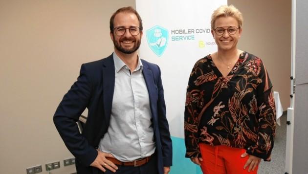 Die Hotel-Manager Stefan Winkler-Hermaden und Sandra Sifkovits (Bild: Christian Jauschowetz)